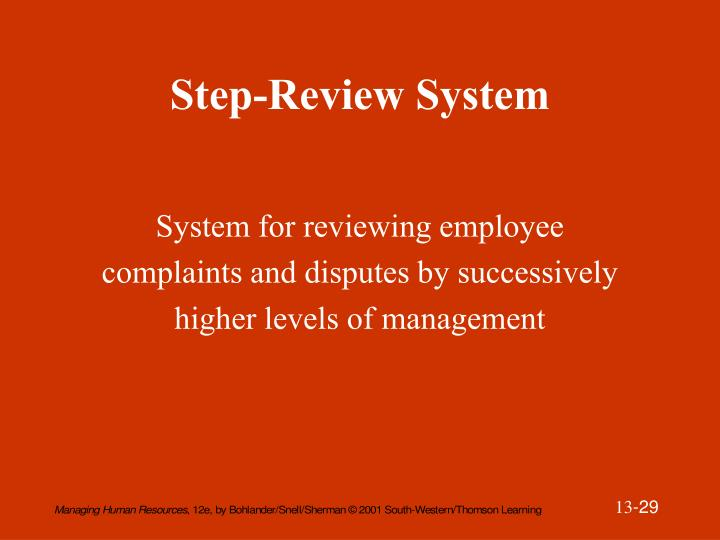 Step-Review System