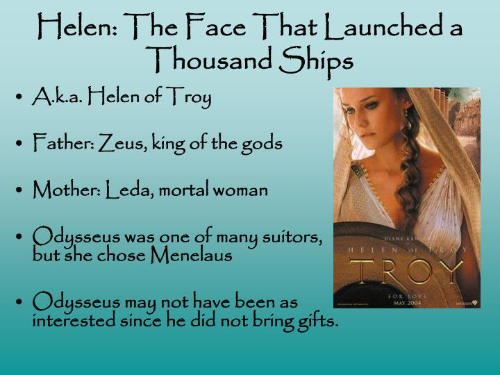 Helen: The Face That Launched a Thousand Ships