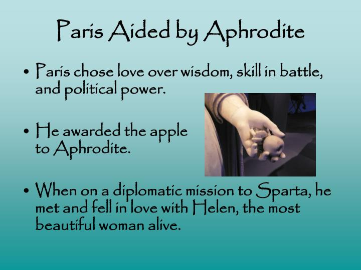 Paris Aided by Aphrodite