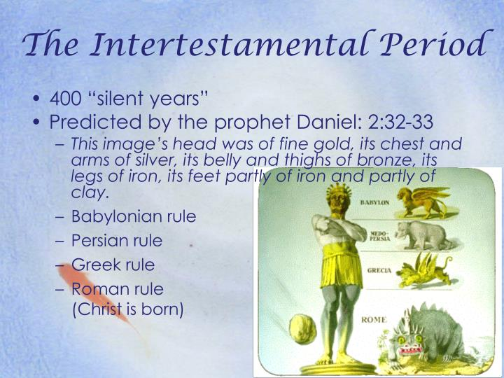the intertestamental period the jewish backgrounds Josephus wrote significant (though pretty biased) accounds of jewish history covering the intertestamental period and different events in the first century ad philo of alexandria gives a unique insight into the hellenization of judaism.