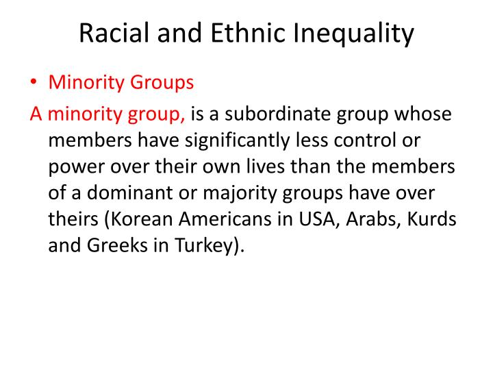 Racial and Ethnic Inequality