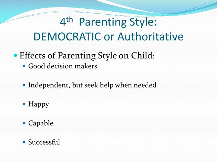 authoritarian parenting negative effects of authoritarian