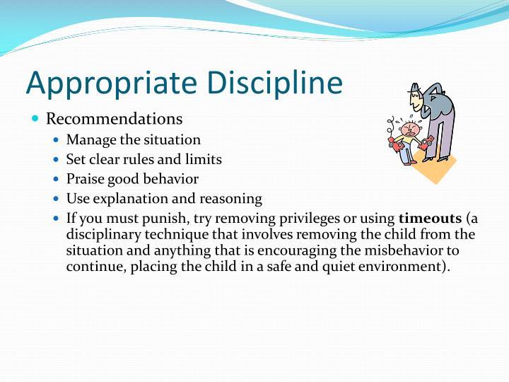 Appropriate Discipline