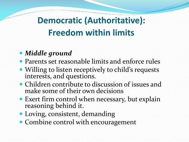 Democratic (Authoritative):