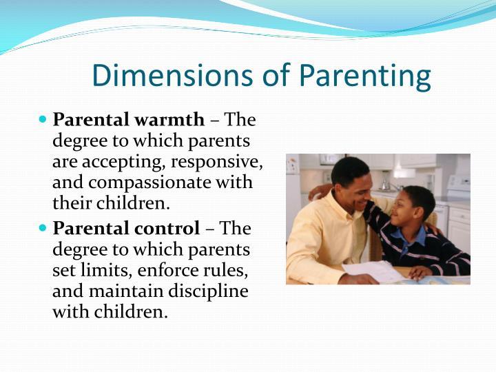 Dimensions of parenting