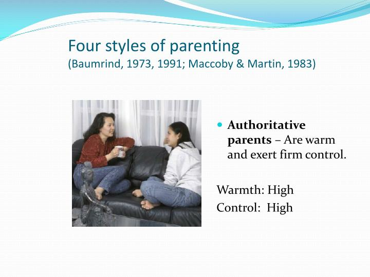Four styles of parenting