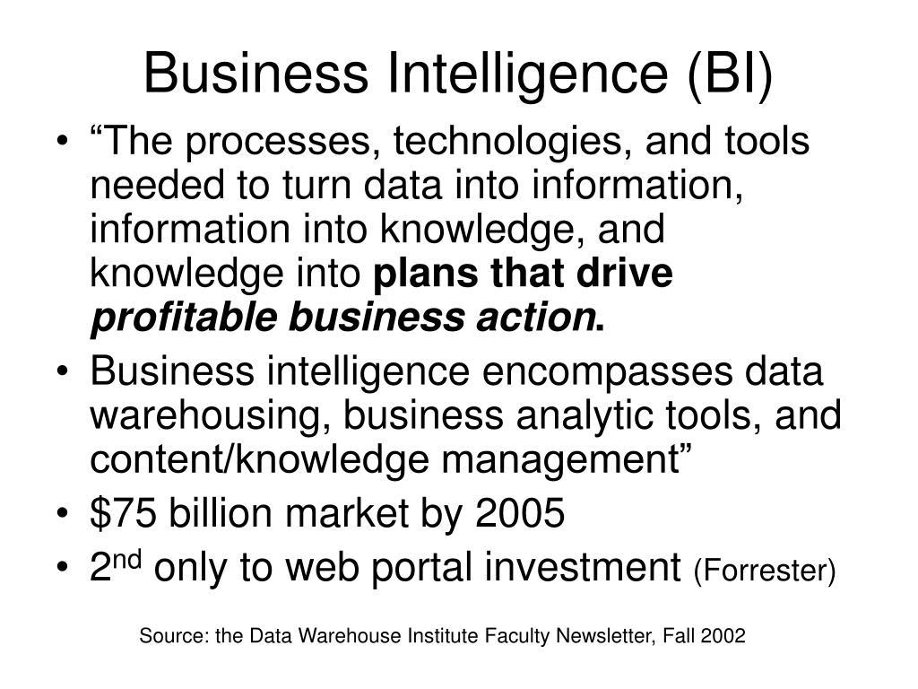 PPT - Business Intelligence PowerPoint Presentation - ID:6587437