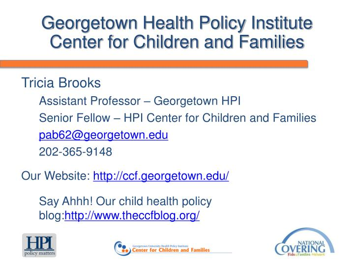 Georgetown Health Policy Institute
