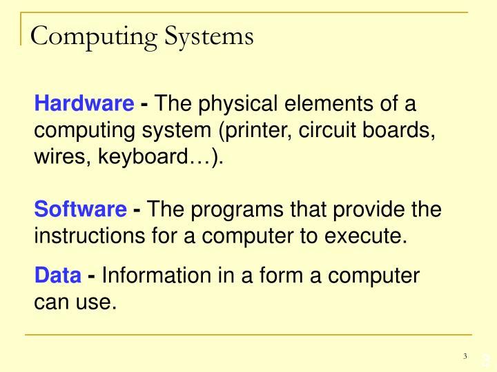 Computing systems1
