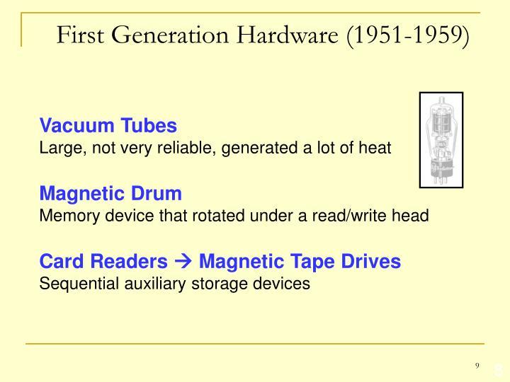 First Generation Hardware (1951-1959)