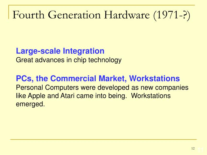 Fourth Generation Hardware (1971-?)