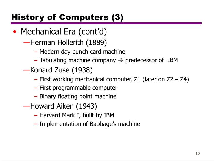 History of Computers (3)