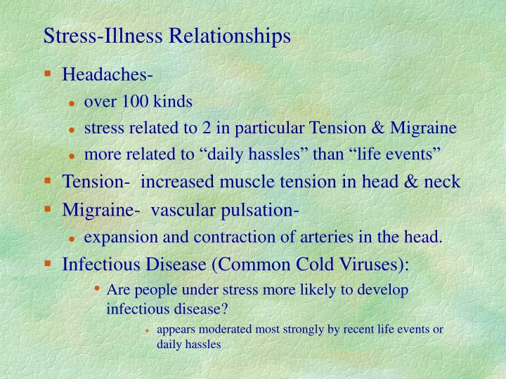 Stress-Illness Relationships