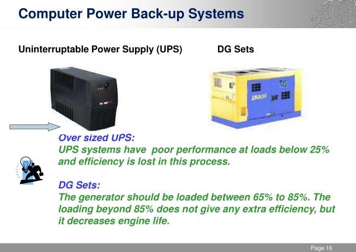 Computer Power Back-up Systems