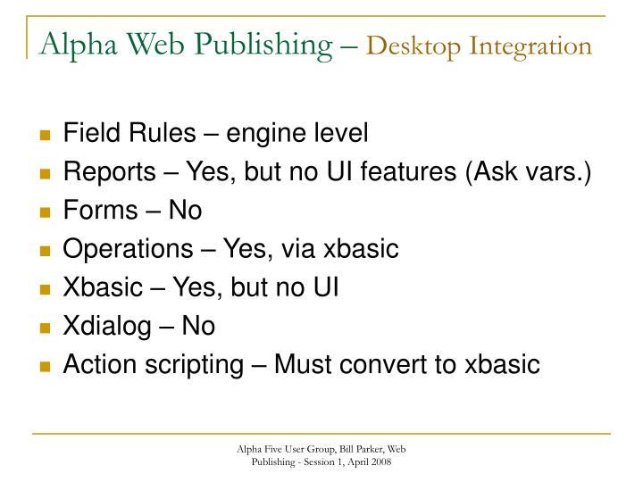 Alpha Web Publishing –