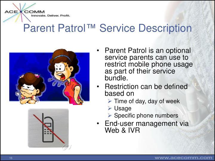 Parent Patrol
