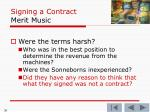 signing a contract merit music5