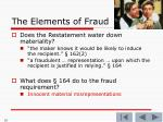 the elements of fraud7