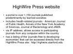 highwire press website