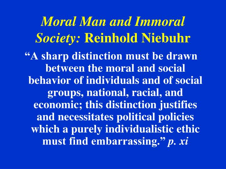deciding what is moral and immoral A moral act is moral, an immoral act is immoral unfurtunately, unlike color vision, which almost all of us are born with, morality is something that very few people are born with so far (we might evolve a nearly universal moral sense some day) and, like color blindness, it's not something you can learn, you either can see the difference between green.
