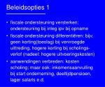 beleidsopties 1