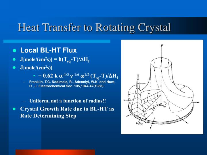 Heat Transfer to Rotating Crystal