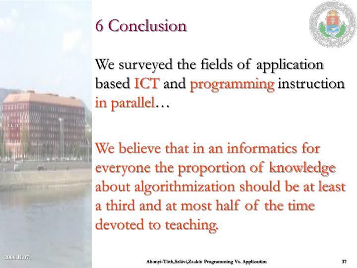 6 Conclusion