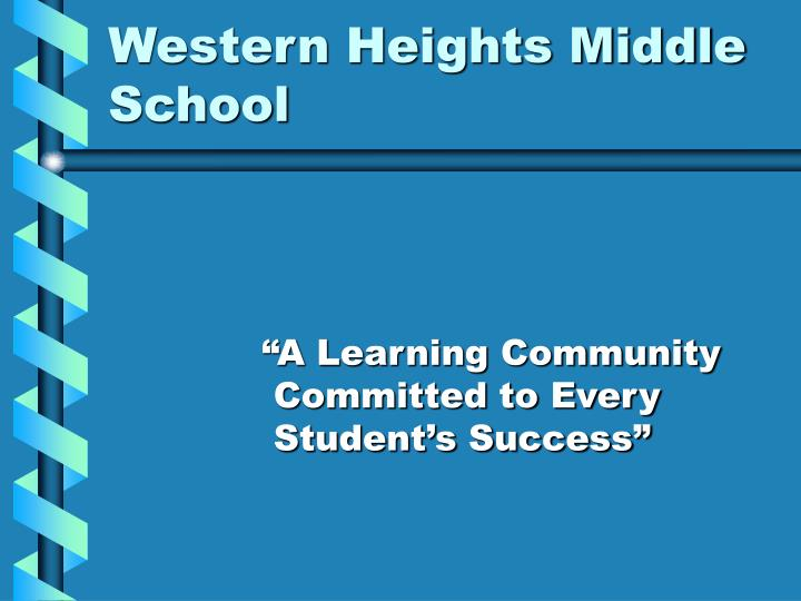 Western heights middle school