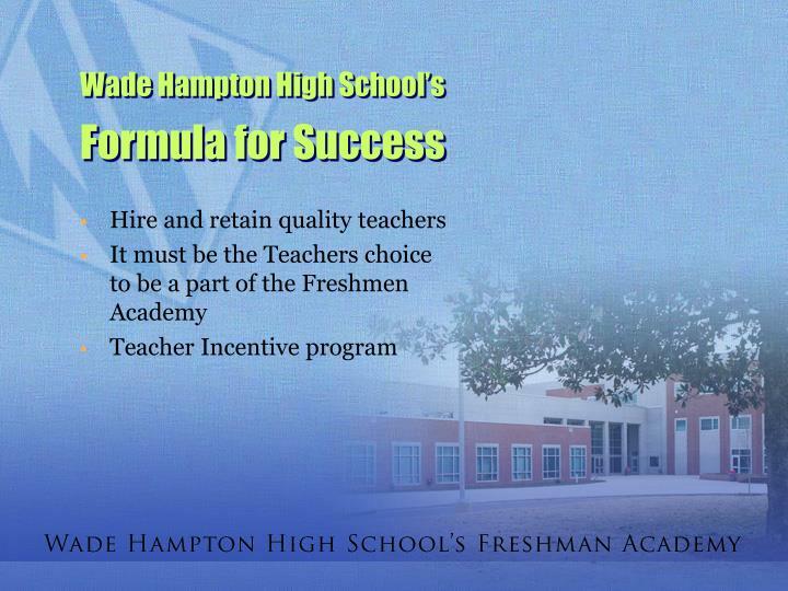 Wade Hampton High School's