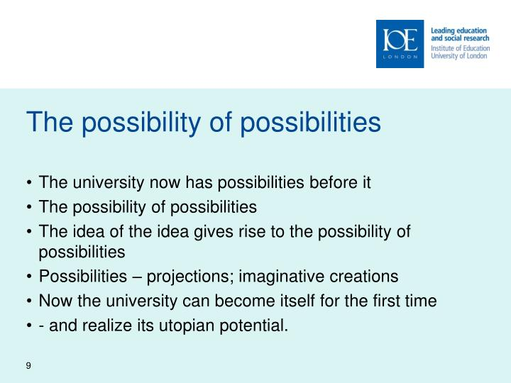 The possibility of possibilities