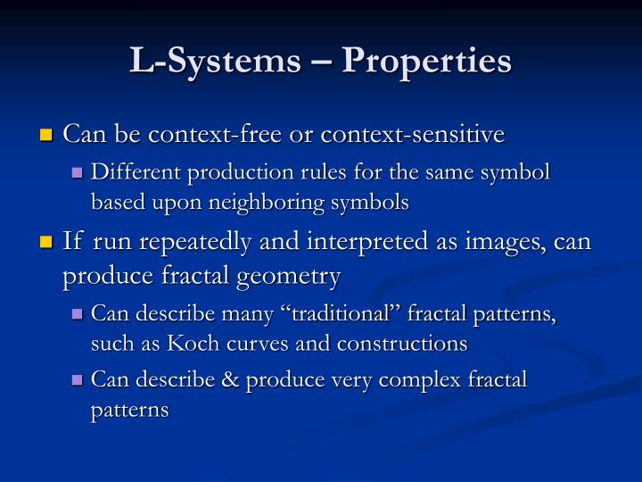 L-Systems – Properties