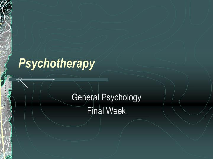 psychotherapy n.