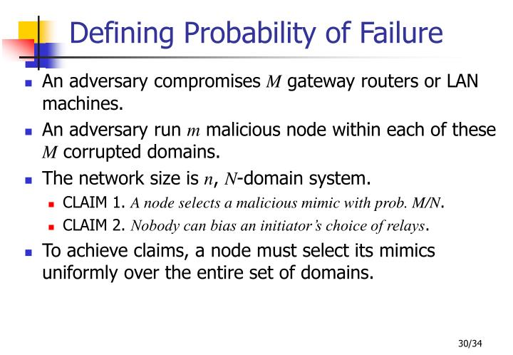Defining Probability of Failure