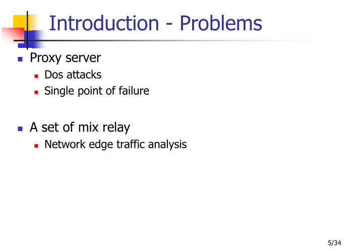 Introduction - Problems