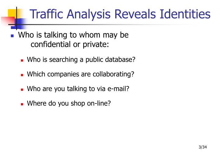 Traffic analysis reveals identities