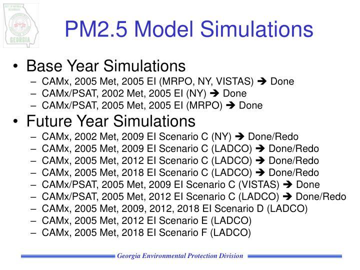 PM2.5 Model Simulations