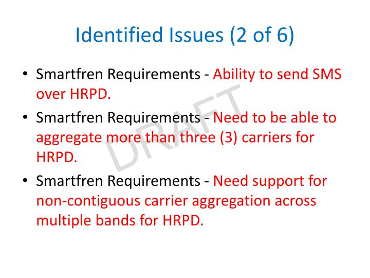 Identified Issues (2 of 6)