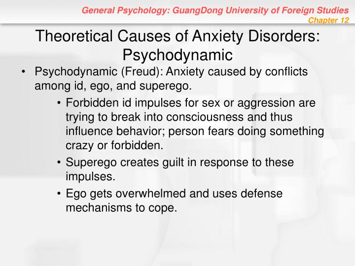 Theoretical Causes of Anxiety Disorders: Psychodynamic