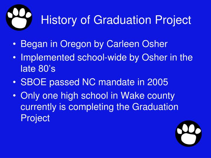 History of Graduation Project