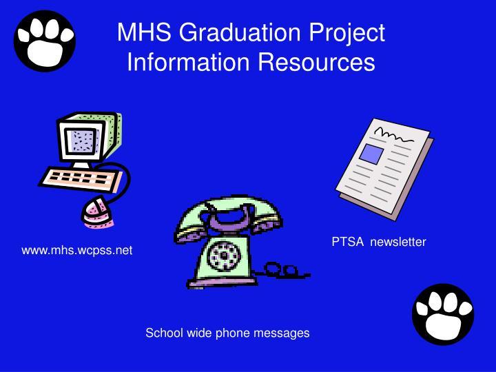 MHS Graduation Project Information Resources