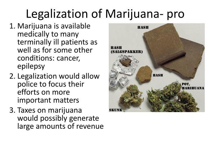 Legalization of Marijuana- pro