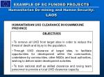 example of ec funded projects humanitarian de mining and human security laos