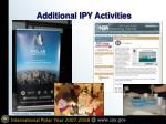 additional ipy activities