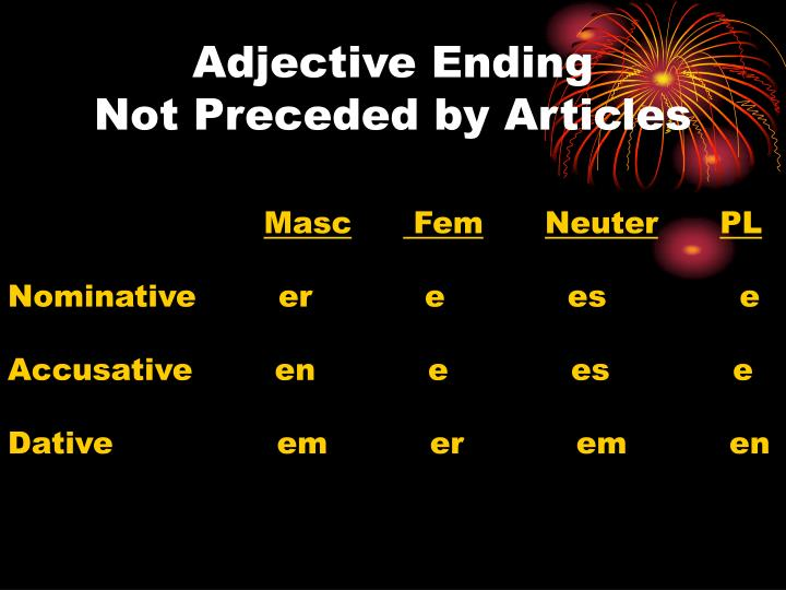 Adjective Ending