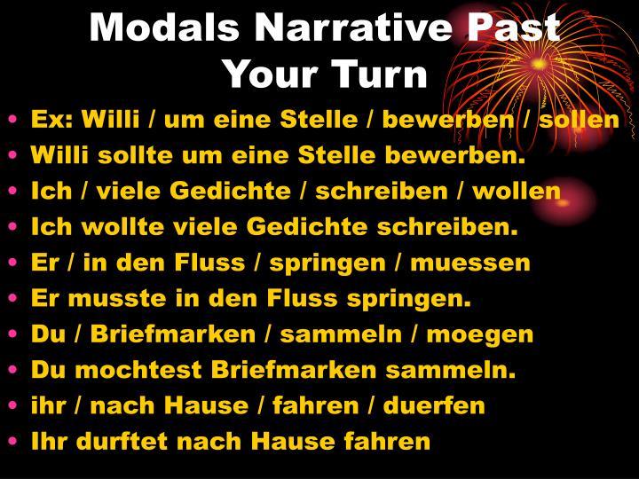 Modals Narrative Past