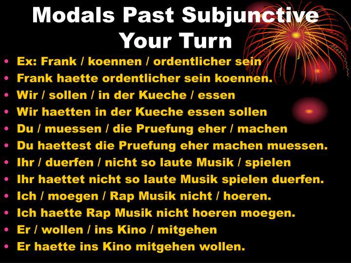 Modals Past Subjunctive