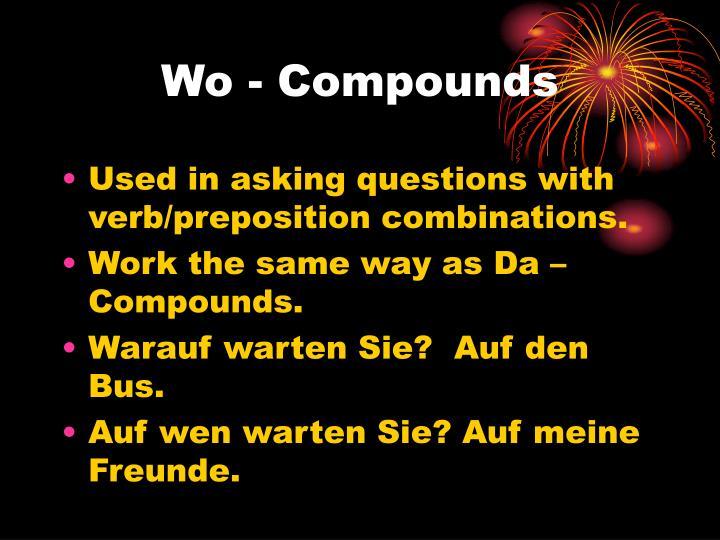 Wo - Compounds