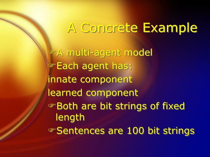 A Concrete Example