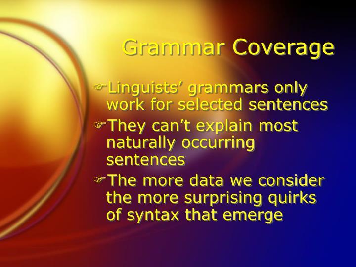 Grammar Coverage