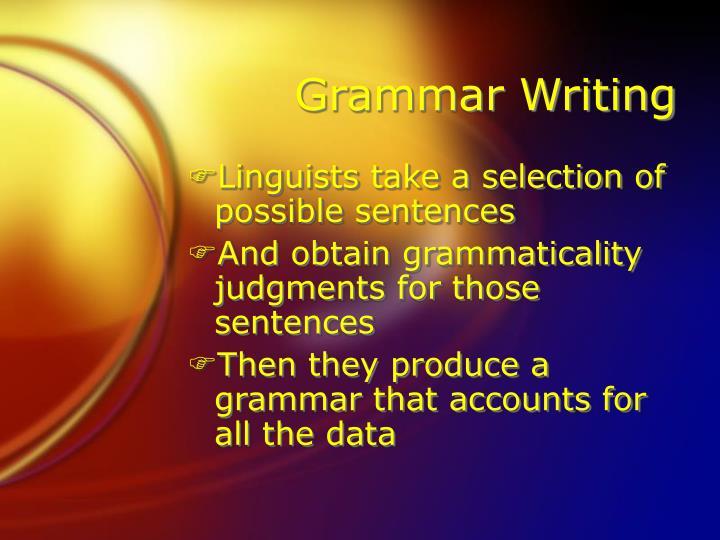 Grammar Writing